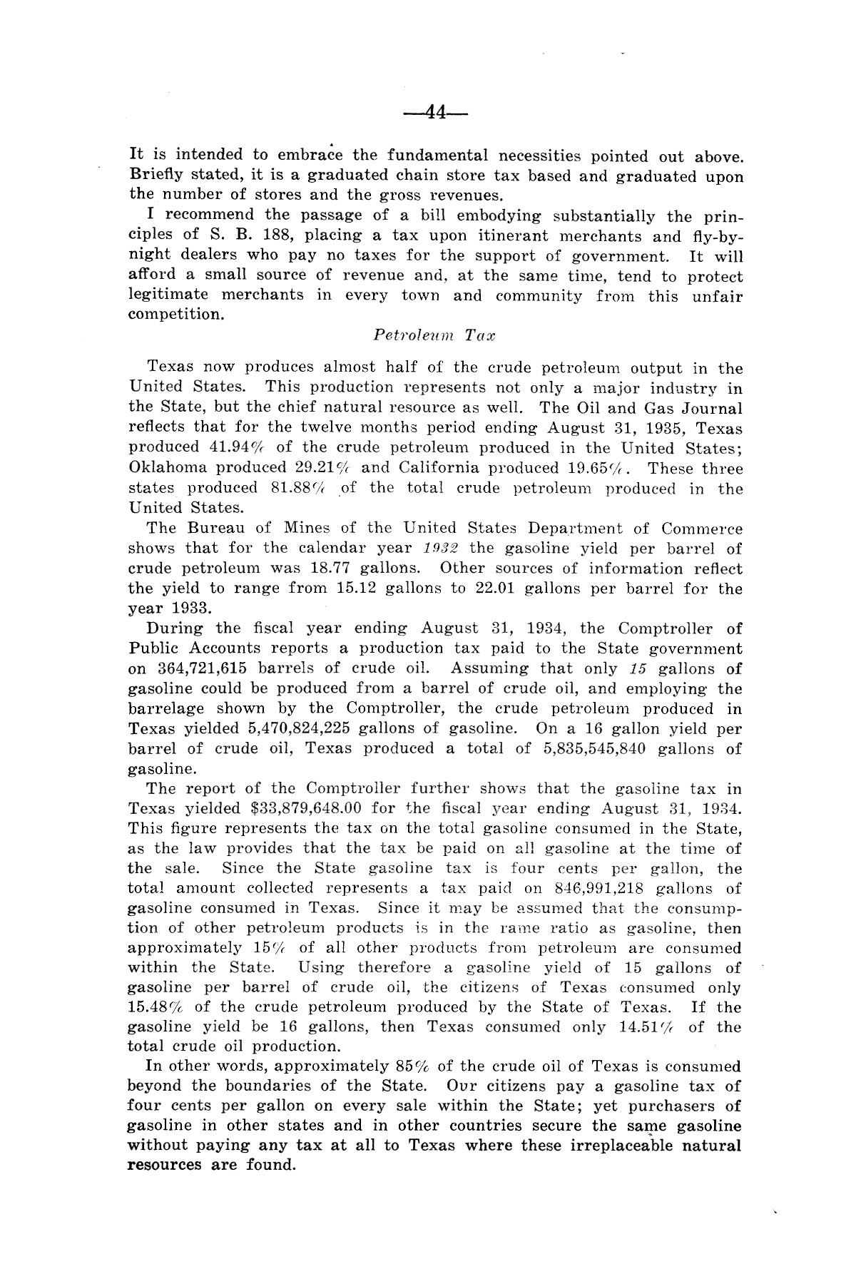Legislative Messages of Hon. James V. Allred, Governor of Texas 1935-1939                                                                                                      [Sequence #]: 43 of 263