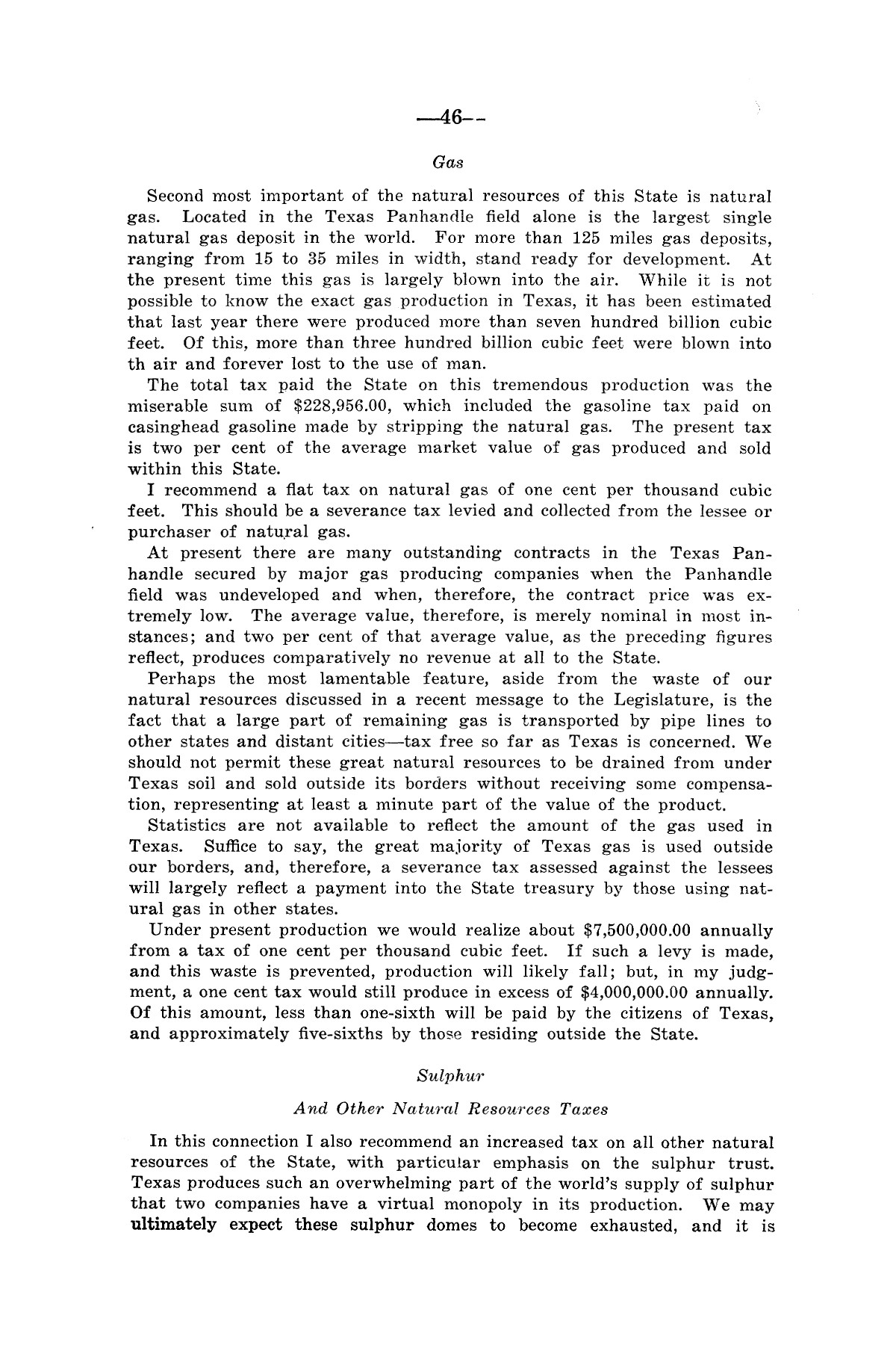Legislative Messages of Hon. James V. Allred, Governor of Texas 1935-1939                                                                                                      [Sequence #]: 45 of 263