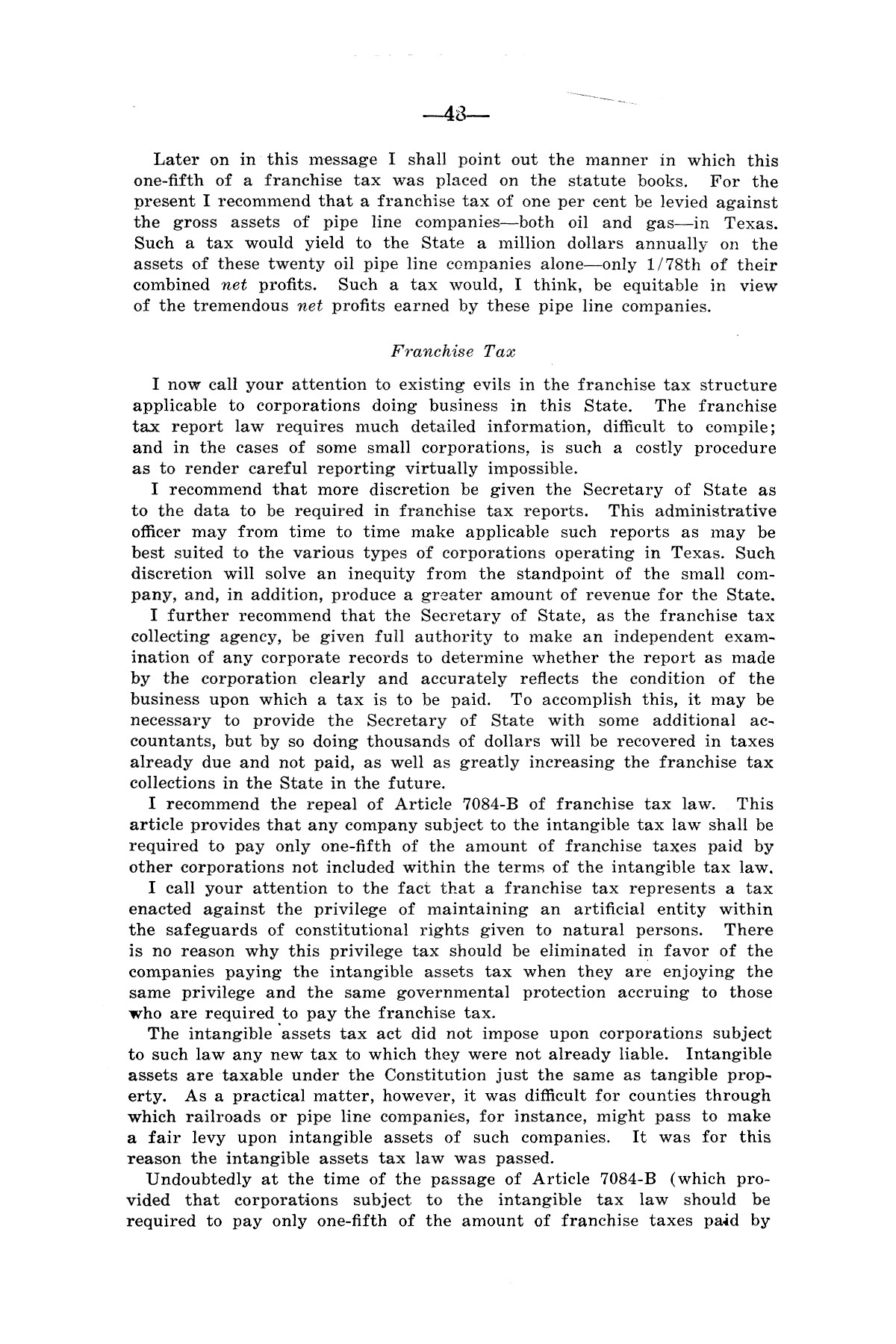 Legislative Messages of Hon. James V. Allred, Governor of Texas 1935-1939                                                                                                      [Sequence #]: 47 of 263