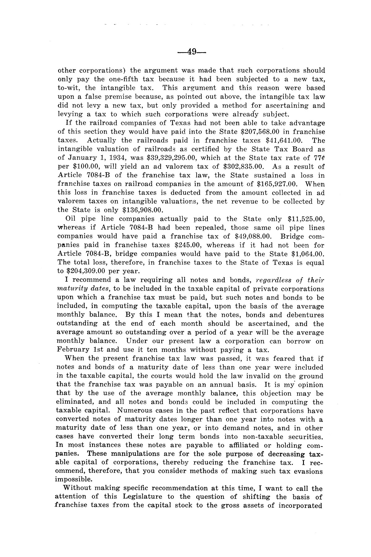 Legislative Messages of Hon. James V. Allred, Governor of Texas 1935-1939                                                                                                      [Sequence #]: 48 of 263