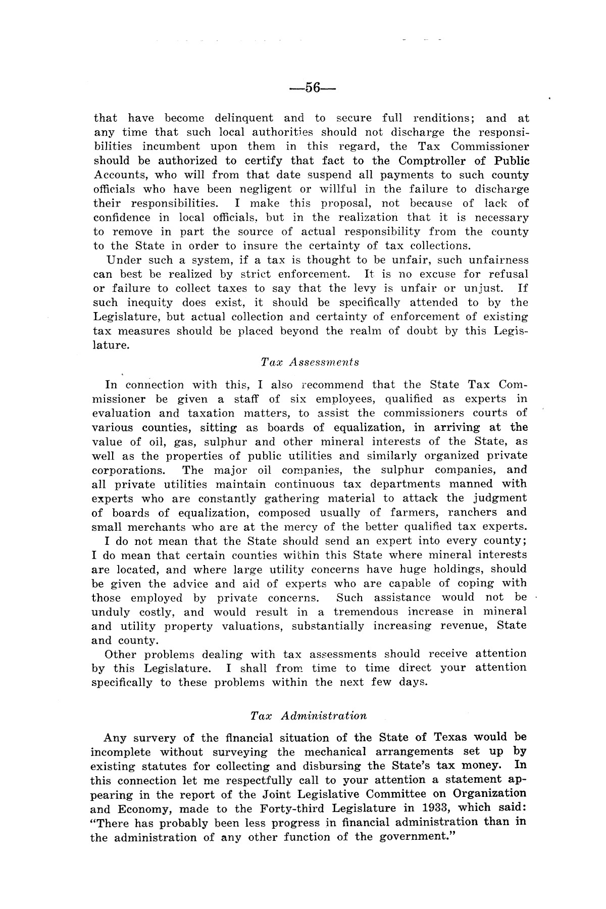 Legislative Messages of Hon. James V. Allred, Governor of Texas 1935-1939                                                                                                      [Sequence #]: 55 of 263