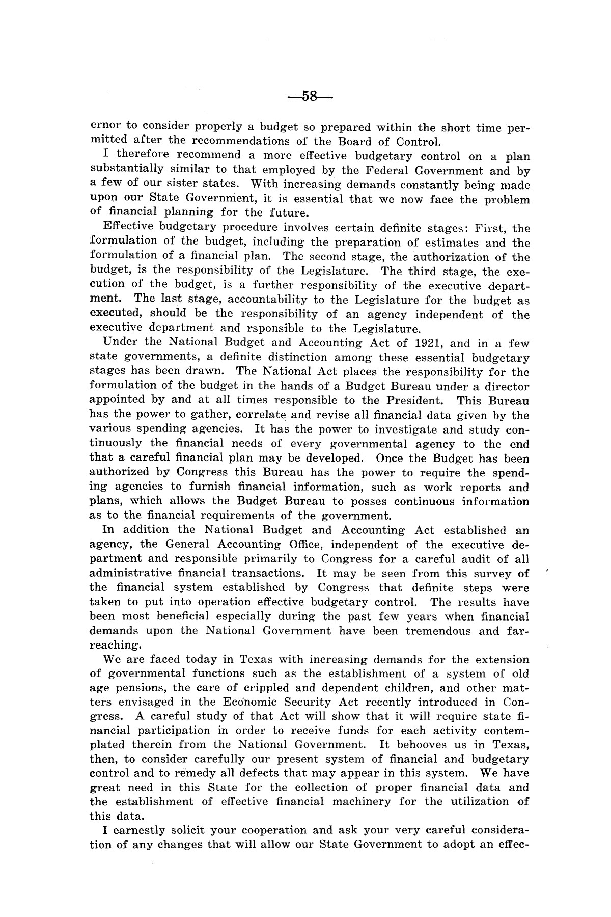 Legislative Messages of Hon. James V. Allred, Governor of Texas 1935-1939                                                                                                      [Sequence #]: 57 of 263