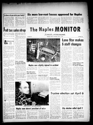 Primary view of object titled 'The Naples Monitor (Naples, Tex.), Vol. 77, No. 29, Ed. 1 Thursday, February 7, 1963'.
