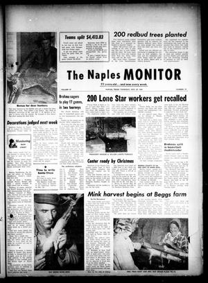 Primary view of object titled 'The Naples Monitor (Naples, Tex.), Vol. 77, No. 19, Ed. 1 Thursday, November 29, 1962'.