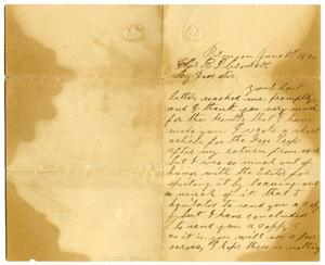 Primary view of object titled '[Letter from Smith Rudd to R.P. Crockett, June 1881]'.