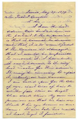 Primary view of object titled '[Letter from J.M. Crockett to R.P. Crockett, May 29 1879]'.