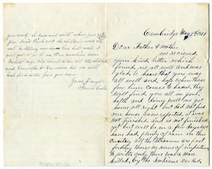 Primary view of object titled '[Letter from Fannie Curtis to parents, May 9 1879]'.