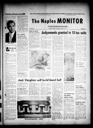 Primary view of object titled 'The Naples Monitor (Naples, Tex.), Vol. 75, No. 46, Ed. 1 Thursday, June 8, 1961'.