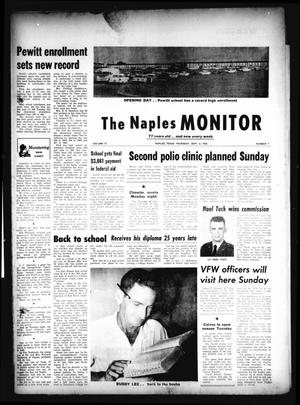 Primary view of object titled 'The Naples Monitor (Naples, Tex.), Vol. 77, No. 7, Ed. 1 Thursday, September 6, 1962'.