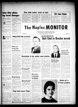 Primary view of object titled 'The Naples Monitor (Naples, Tex.), Vol. 77, No. 27, Ed. 1 Thursday, January 24, 1963'.