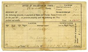 Primary view of object titled '[Tax receipt for Milton Parks]'.