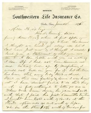 Primary view of object titled '[Letter from Jas E. Smith to Milton Parks]'.