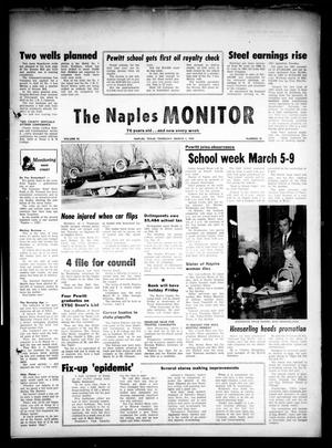 Primary view of object titled 'The Naples Monitor (Naples, Tex.), Vol. 76, No. 32, Ed. 1 Thursday, March 1, 1962'.