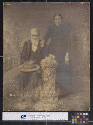 Primary view of object titled 'Studio Portrait of a Man and Woman'.