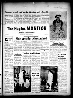 Primary view of object titled 'The Naples Monitor (Naples, Tex.), Vol. 76, No. 38, Ed. 1 Thursday, April 12, 1962'.