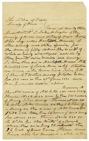 Primary view of object titled '[Documentation of sale of land from John H. Traylor to Hartsford Howard, July 14 1877]'.