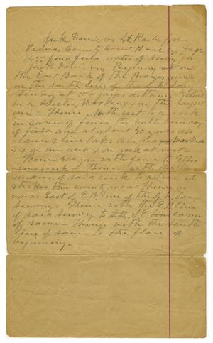 Primary view of object titled '[Note addressing land issues, n.d.]'.