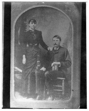 Primary view of object titled '[Portrait of two unknown people]'.