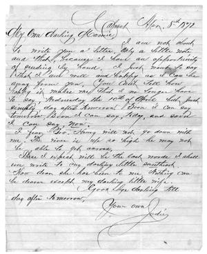 "Primary view of object titled '[Letter between ""Jodie"" and ""Mamie""]'."