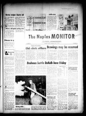 Primary view of object titled 'The Naples Monitor (Naples, Tex.), Vol. 76, No. 12, Ed. 1 Thursday, October 12, 1961'.