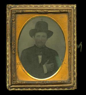 Primary view of object titled '[Ambrotype of unknown man]'.
