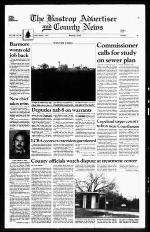 Primary view of object titled 'The Bastrop Advertiser and County News (Bastrop, Tex.), Vol. 134, No. 90, Ed. 1 Monday, January 11, 1988'.