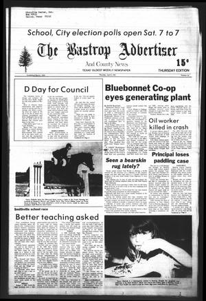 Primary view of object titled 'The Bastrop Advertiser and County News (Bastrop, Tex.), Vol. [128], No. 10, Ed. 1 Thursday, April 2, 1981'.