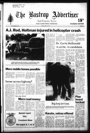 Primary view of object titled 'The Bastrop Advertiser and County News (Bastrop, Tex.), Vol. [128], No. 6, Ed. 1 Thursday, March 19, 1981'.