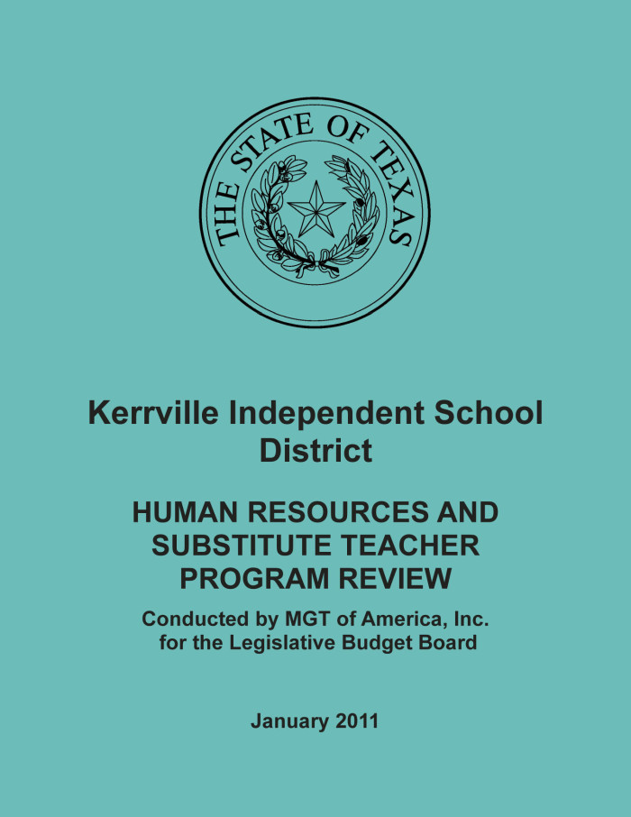 Kerrville Independent School District: Human Resources and ...