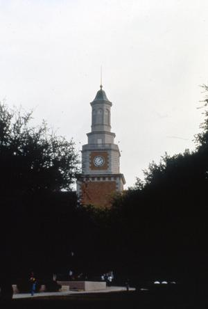 Primary view of object titled '[Belltower of Hurley Administration Building, UNT]'.