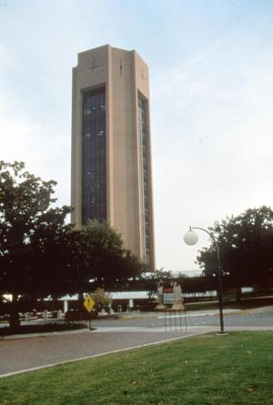 Primary view of object titled '[Clock Tower at Texas Woman's University - Denton, TX]'.