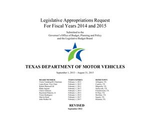 Thumbnail image of item number 3 in: 'Texas Department of Motor Vehicles Requests for