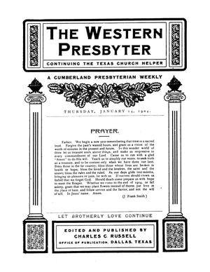 Primary view of object titled '[The Western Presbyter]'.