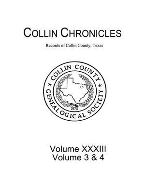 Primary view of object titled 'Collin Chronicles, Volume 33, Number 3 & 4, 2012/2013'.