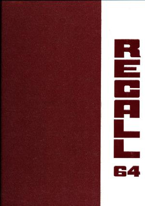 Primary view of object titled 'The Recall, Yearbook of Schreiner Institute, 1964'.