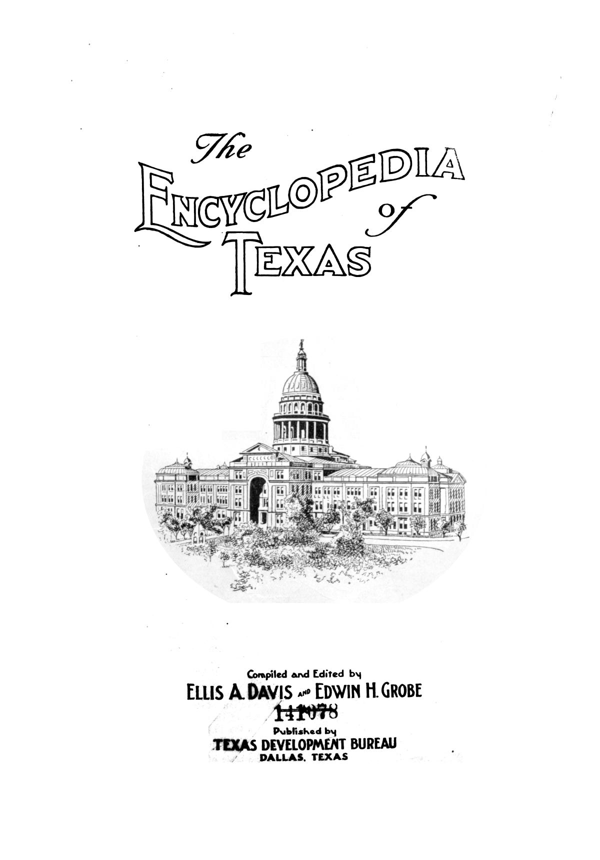 The encyclopedia of Texas, Vol. 2                                                                                                      Title Page