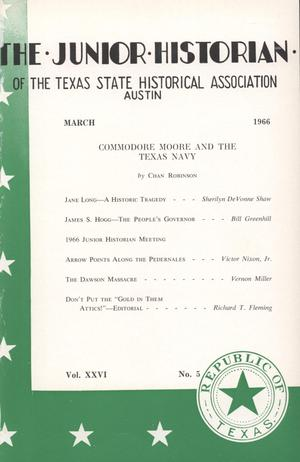 Primary view of The Junior Historian, Volume 26, Number 5, March 1966
