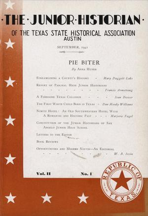 Primary view of object titled 'The Junior Historian, Volume 2, Number 1, September 1941'.