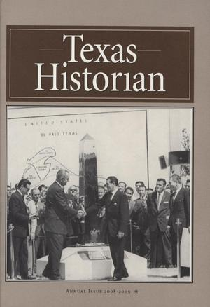 Primary view of object titled 'The Texas Historian, Volume 69, 2008-2009'.
