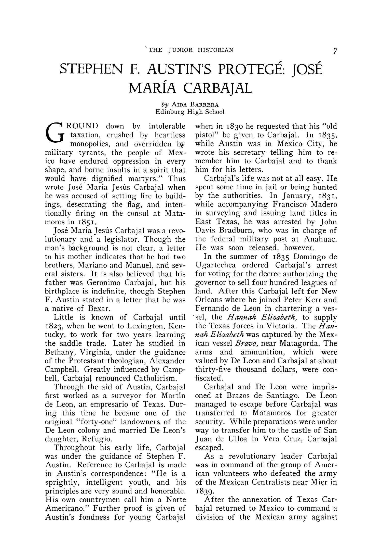 The Junior Historian, Volume 14, Number 4, January 1954                                                                                                      7