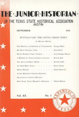 The Junior Historian, Volume 20, Number 1, September 1959
