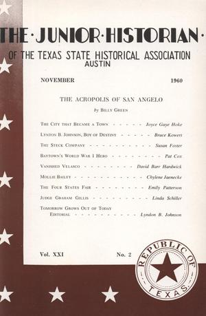 The Junior Historian, Volume 21, Number 2, November 1960