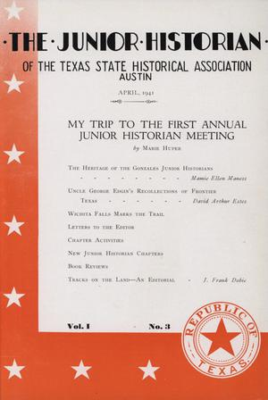 Primary view of object titled 'The Junior Historian, Volume 1, Number 3, April 1941'.