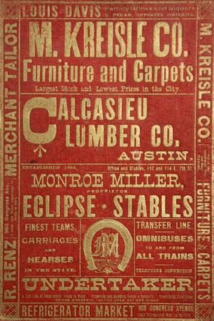 Primary view of object titled 'Morrison & Fourmy's General Directory of the City of Austin for 1889-1890'.