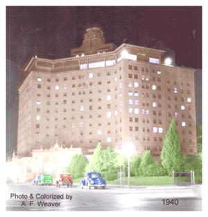 Primary view of object titled '[The Baker Hotel at Night]'.