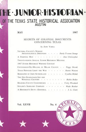 Primary view of object titled 'The Junior Historian, Volume 27, Number 6, May 1967'.