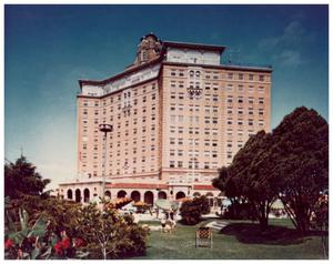 Primary view of object titled '[Baker Hotel Grounds' View]'.