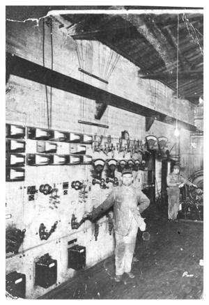 Primary view of object titled '[Inside the Electric & Ice Plant]'.
