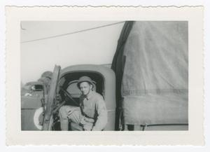Primary view of object titled '[Desmond in Army Truck]'.