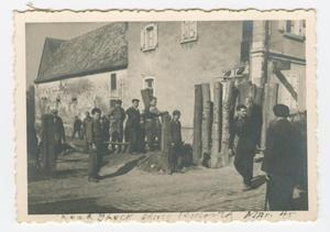 Primary view of object titled '[Road Block Being Removed]'.